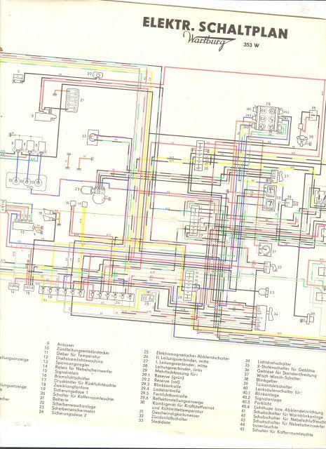 Elektr. Schaltplan Wartburg 352 W - Randbuch.info